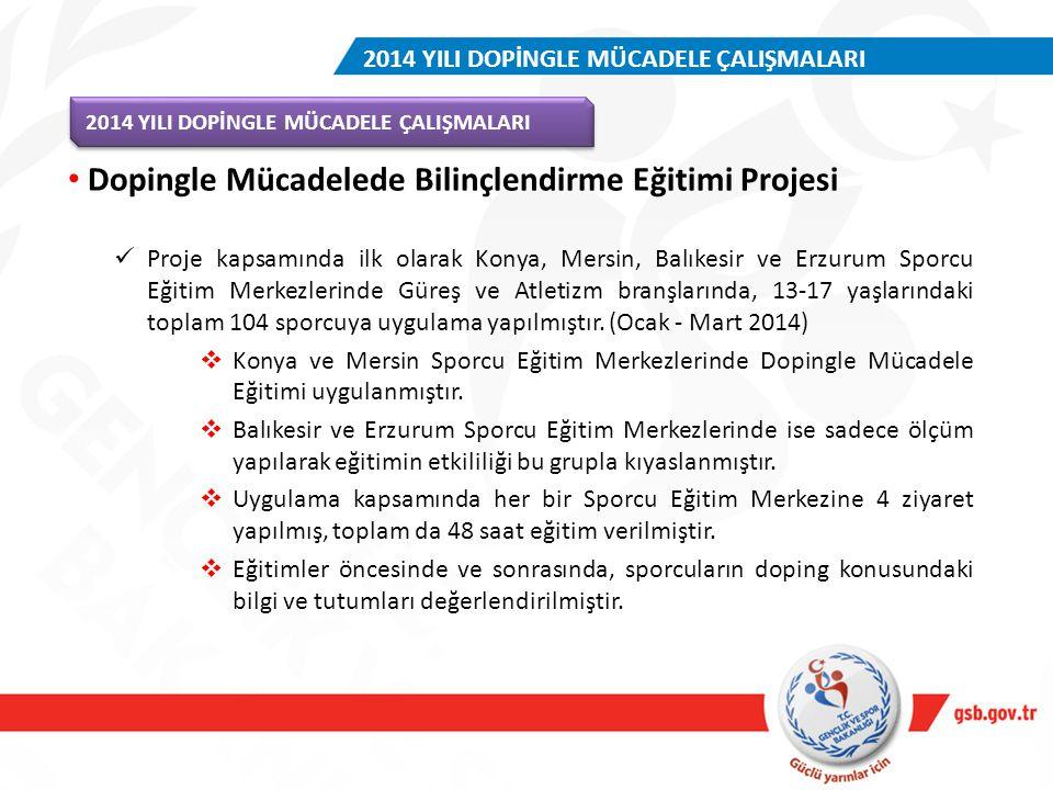 Dopingle Mücadelede Bilinçlendirme Eğitimi Projesi