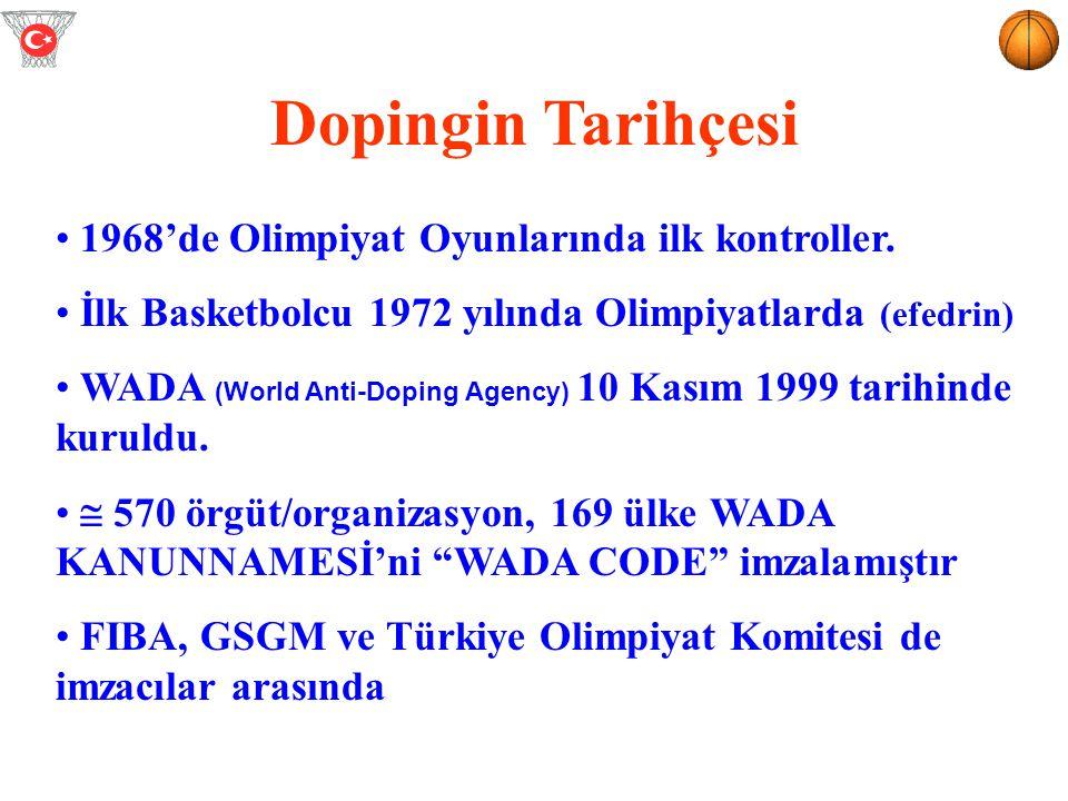 Dopingin Tarihçesi 1968'de Olimpiyat Oyunlarında ilk kontroller.