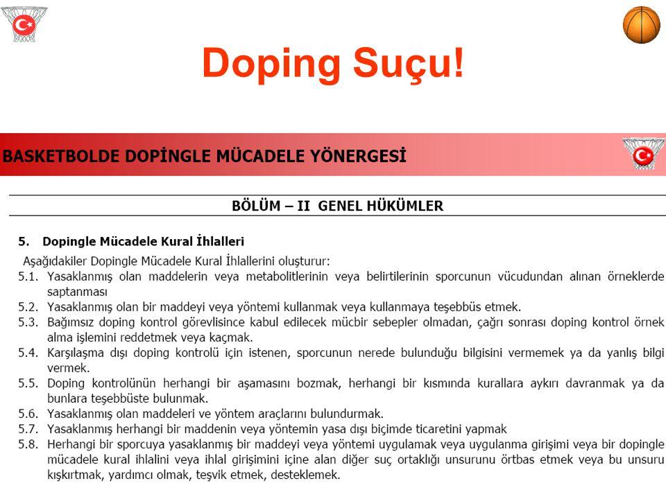 Doping Suçu! UOK'un eski tanımı: