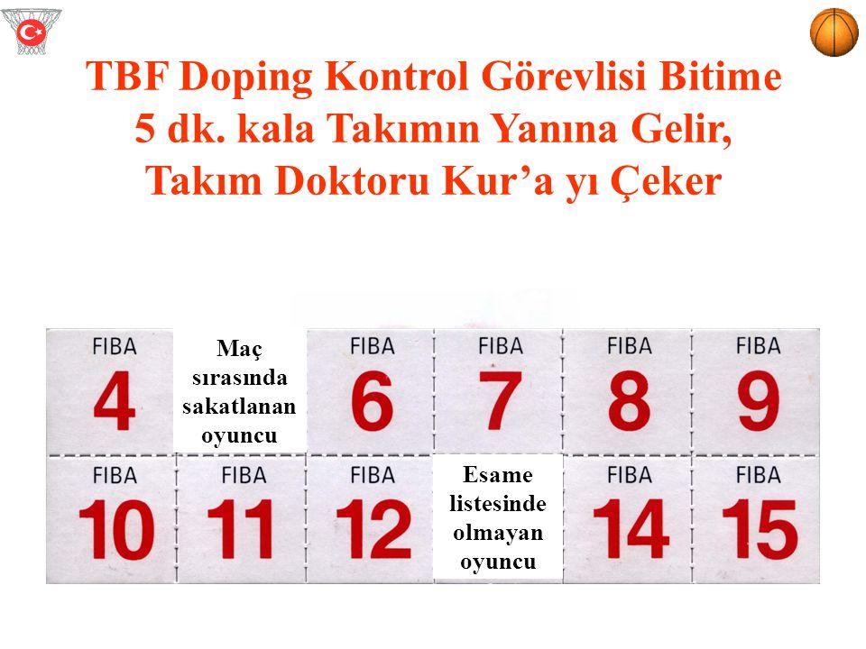 TBF Doping Kontrol Görevlisi Bitime 5 dk. kala Takımın Yanına Gelir,