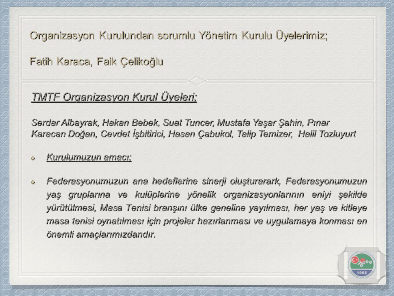 TMTF Organizasyon Kurul Üyeleri;
