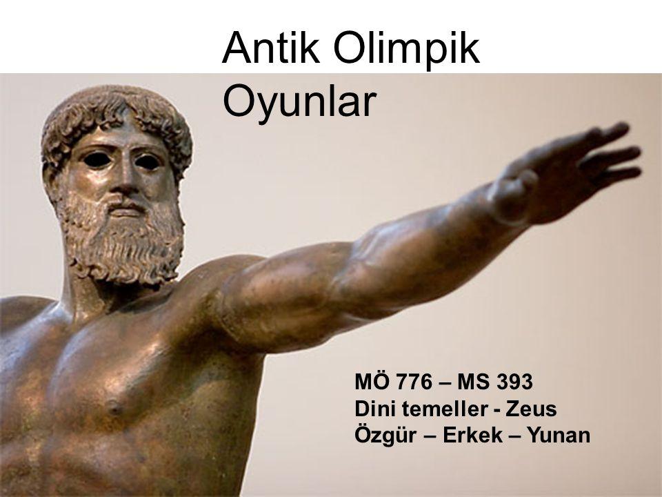 Antik Olimpik Oyunlar MÖ 776 – MS 393 Dini temeller - Zeus