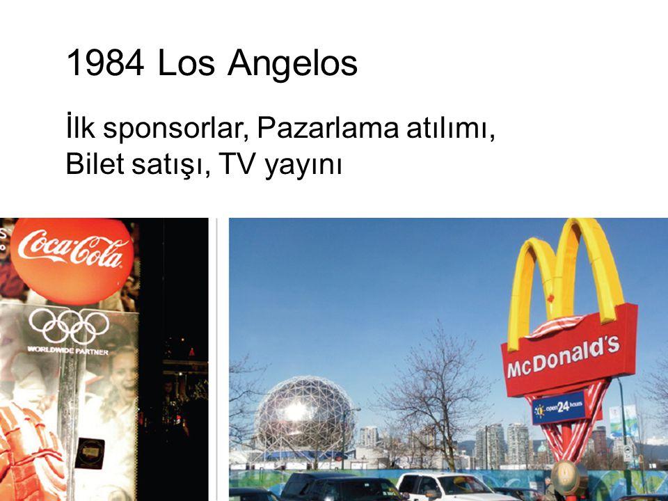 1984 Los Angelos İlk sponsorlar, Pazarlama atılımı,