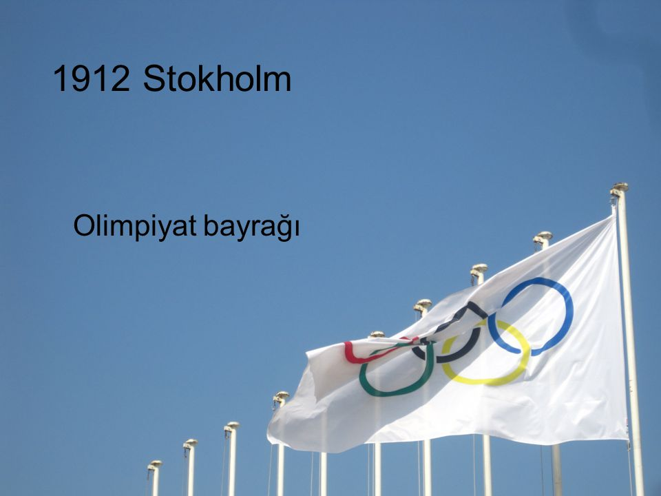 1912 Stokholm Olimpiyat bayrağı