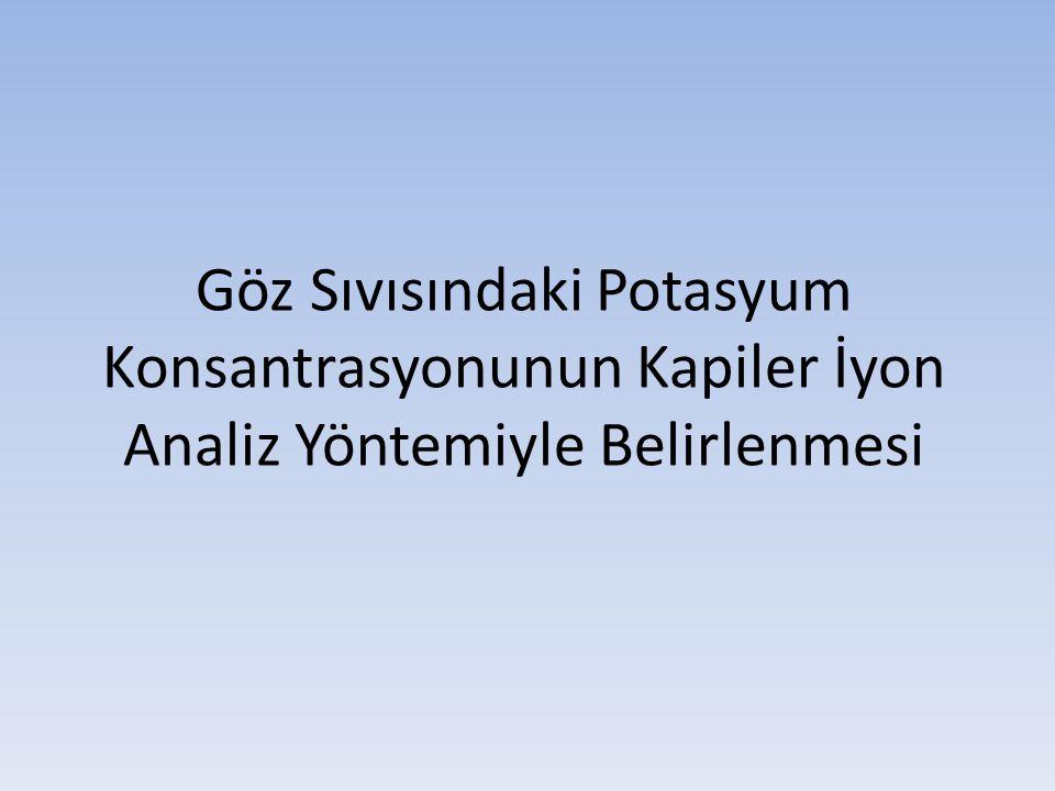 Göz Sıvısındaki Potasyum Konsantrasyonunun Kapiler İyon Analiz Yöntemiyle Belirlenmesi