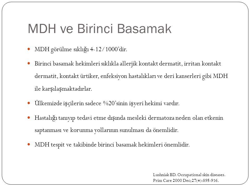 MDH ve Birinci Basamak MDH görülme sıklığı 4-12/1000'dir.