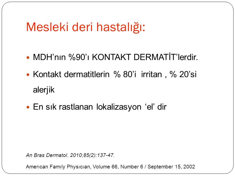 Mesleki deri hastalığı: