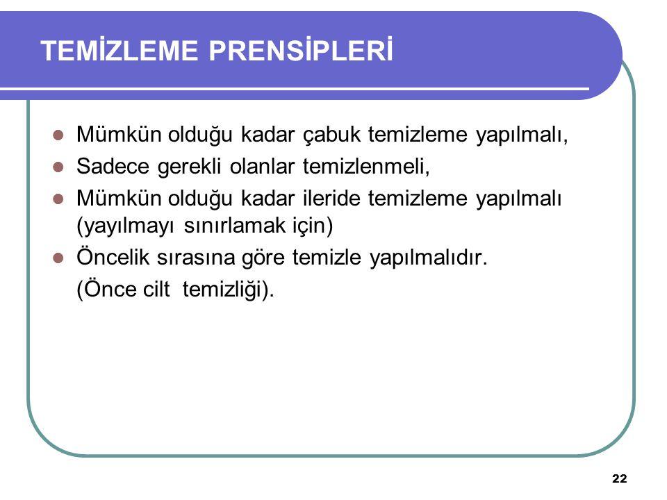 TEMİZLEME PRENSİPLERİ
