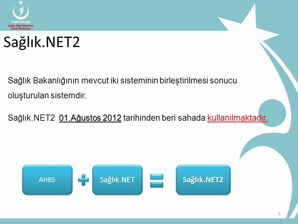 Sağlık.NET2 Sağlık Bakanlığının mevcut iki sisteminin birleştirilmesi sonucu oluşturulan sistemdir.