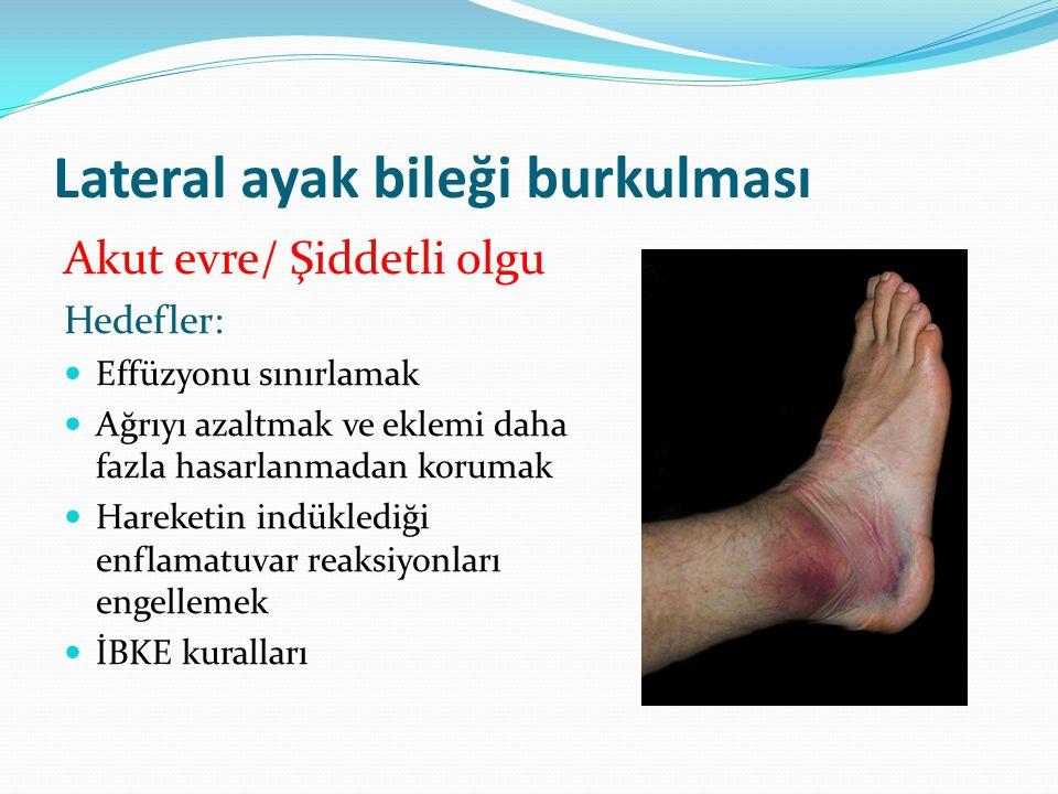 Lateral ayak bileği burkulması
