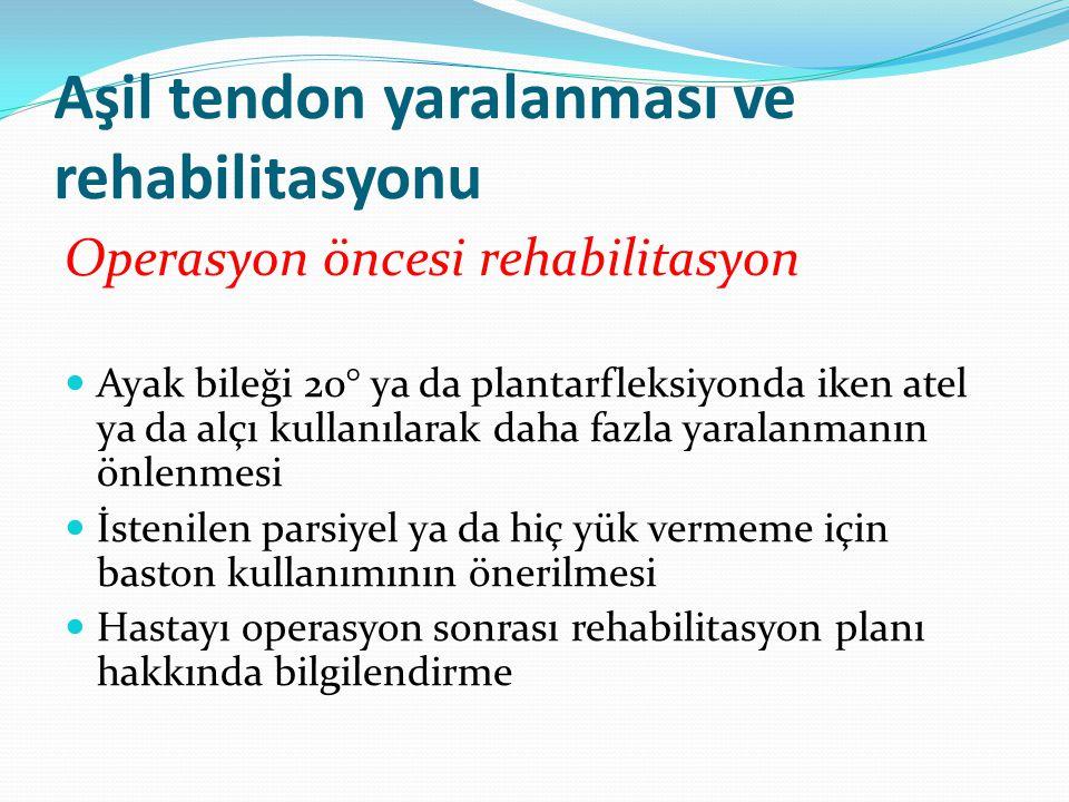 Aşil tendon yaralanması ve rehabilitasyonu