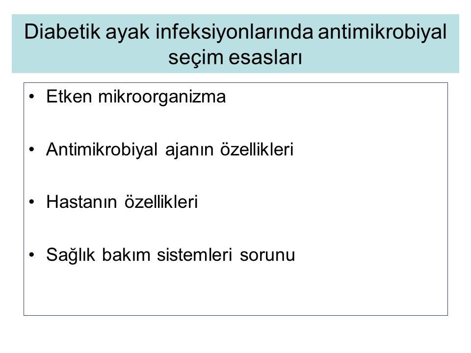 Diabetik ayak infeksiyonlarında antimikrobiyal seçim esasları