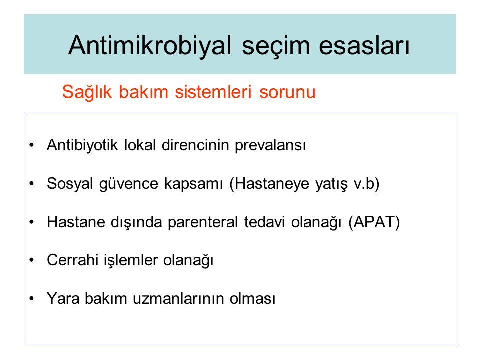Antimikrobiyal seçim esasları