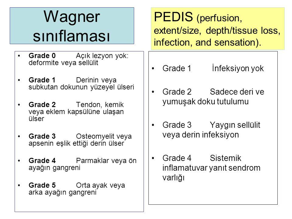 Wagner sınıflaması PEDIS (perfusion,