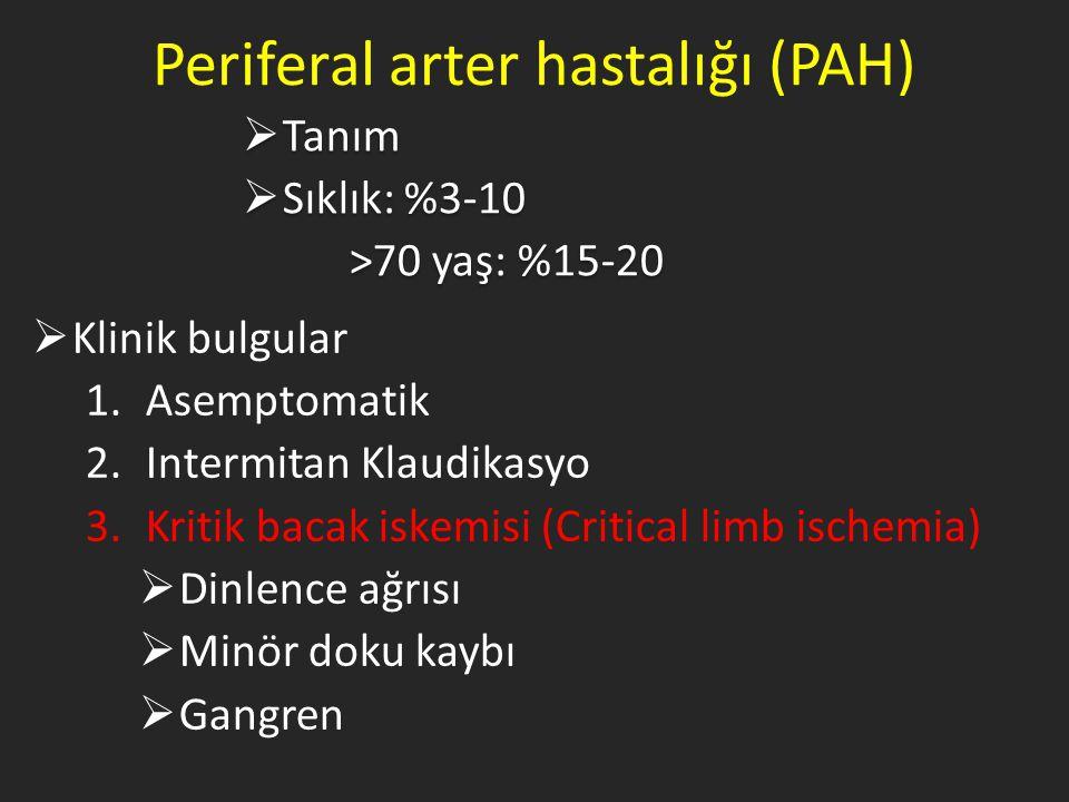 Periferal arter hastalığı (PAH)