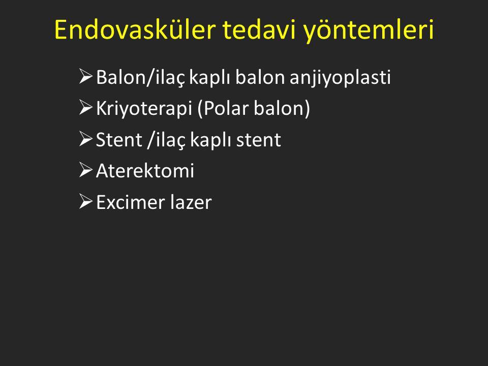 Endovasküler tedavi yöntemleri