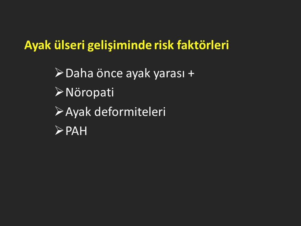 Ayak ülseri gelişiminde risk faktörleri