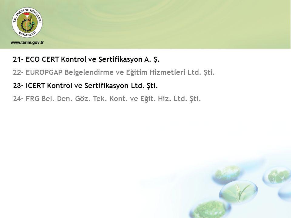 21- ECO CERT Kontrol ve Sertifikasyon A. Ş.