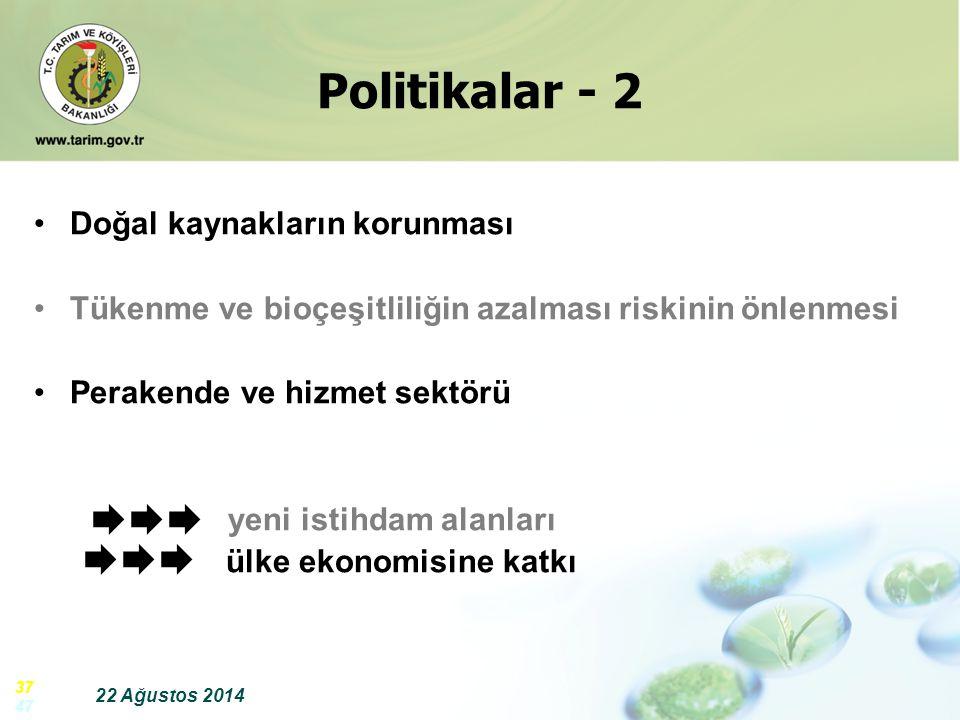 Politikalar - 2   Doğal kaynakların korunması