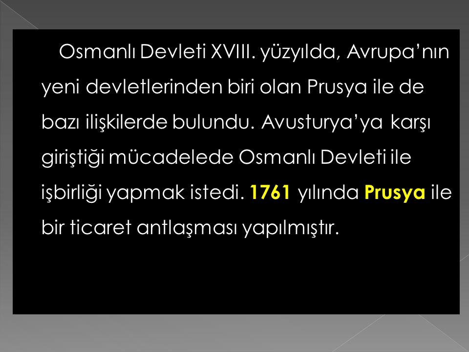 Osmanlı Devleti XVIII.