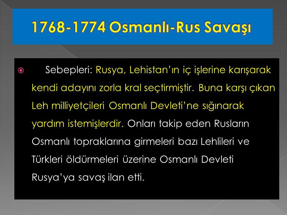 1768-1774 Osmanlı-Rus Savaşı