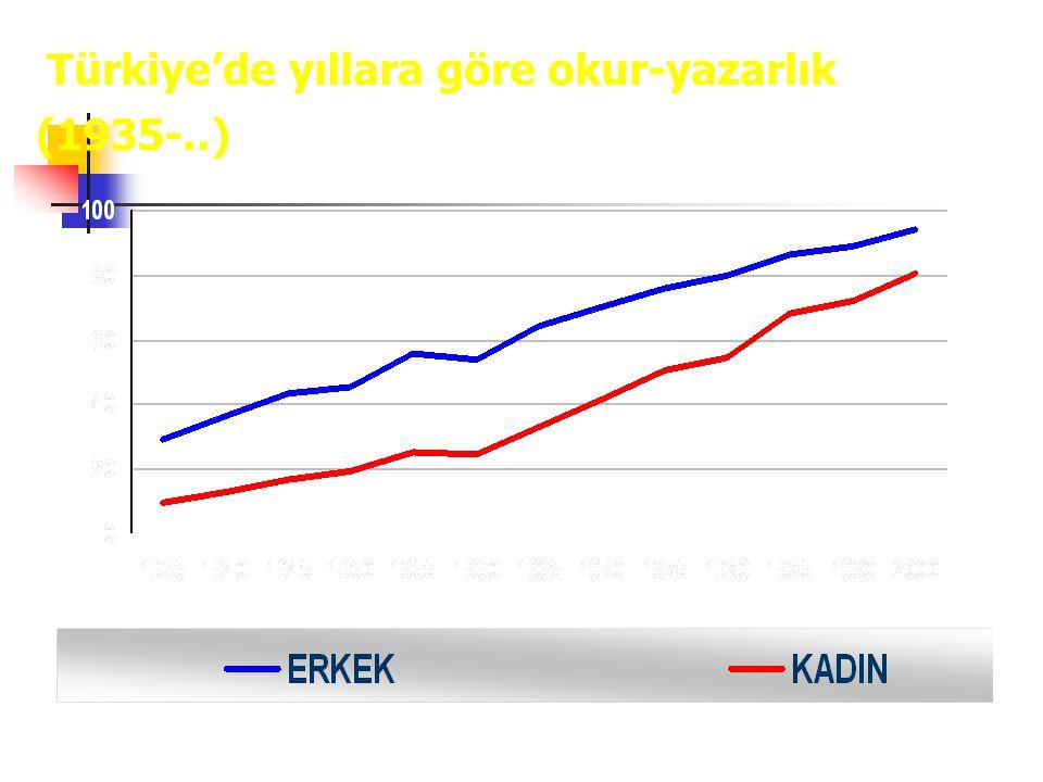 Türkiye'de yıllara göre okur-yazarlık (1935-..)