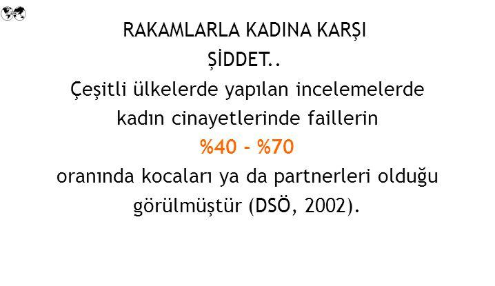 RAKAMLARLA KADINA KARŞI ŞİDDET..