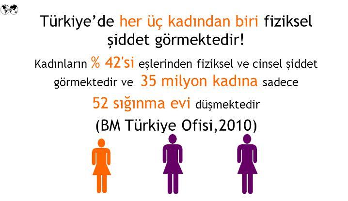 Türkiye'de her üç kadından biri fiziksel şiddet görmektedir!