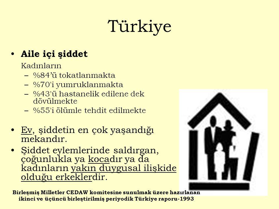Türkiye Aile içi şiddet Kadınların
