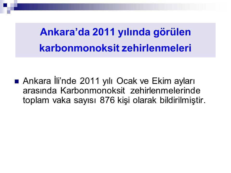 Ankara'da 2011 yılında görülen karbonmonoksit zehirlenmeleri