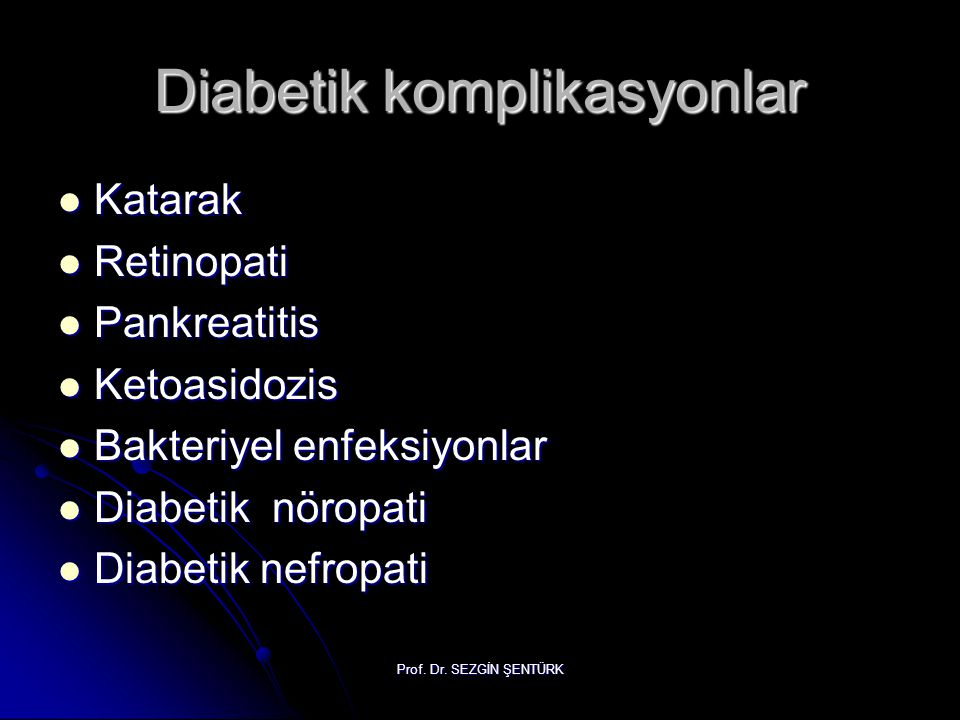 Diabetik komplikasyonlar