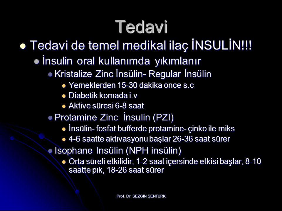 Tedavi Tedavi de temel medikal ilaç İNSULİN!!!