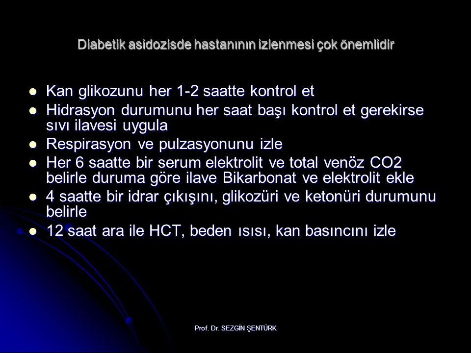 Diabetik asidozisde hastanının izlenmesi çok önemlidir