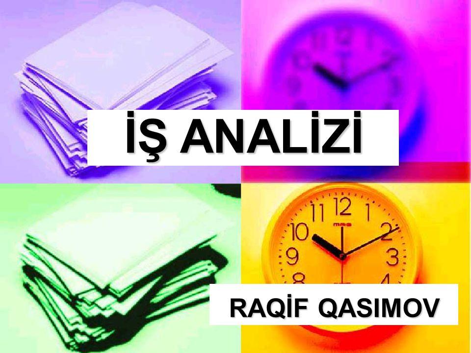 İŞ ANALİZİ RAQİF QASIMOV