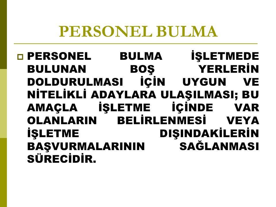 PERSONEL BULMA