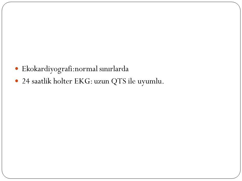 Ekokardiyografi:normal sınırlarda