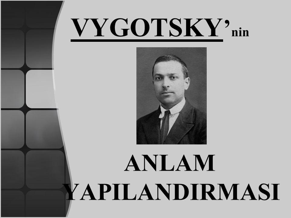 VYGOTSKY'nin ANLAM YAPILANDIRMASI