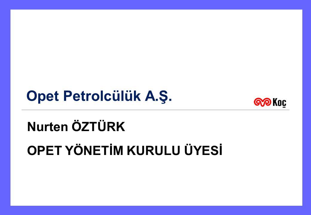 Opet Petrolcülük A.Ş. Nurten ÖZTÜRK OPET YÖNETİM KURULU ÜYESİ 1