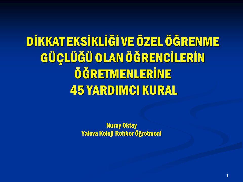 Nuray Oktay Yalova Koleji Rehber Öğretmeni