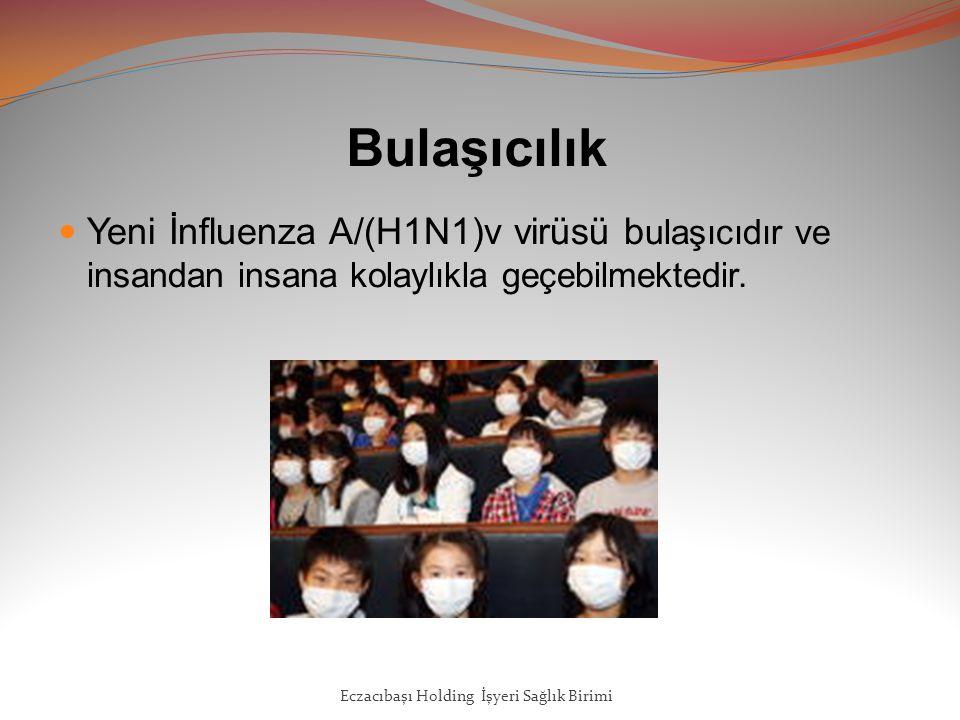 Bulaşıcılık Yeni İnfluenza A/(H1N1)v virüsü bulaşıcıdır ve insandan insana kolaylıkla geçebilmektedir.