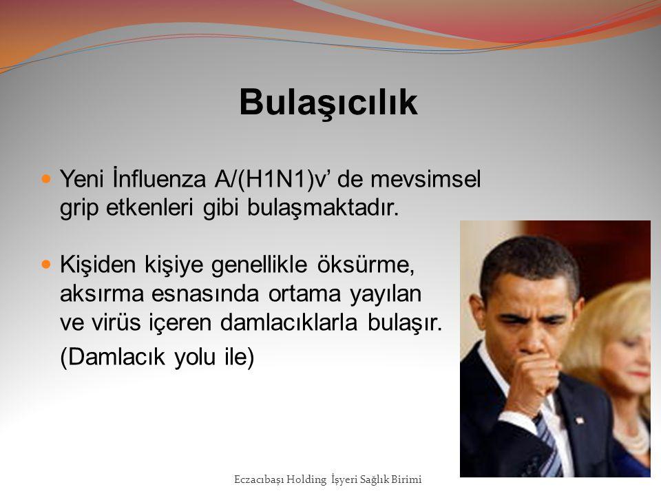 Bulaşıcılık Yeni İnfluenza A/(H1N1)v' de mevsimsel