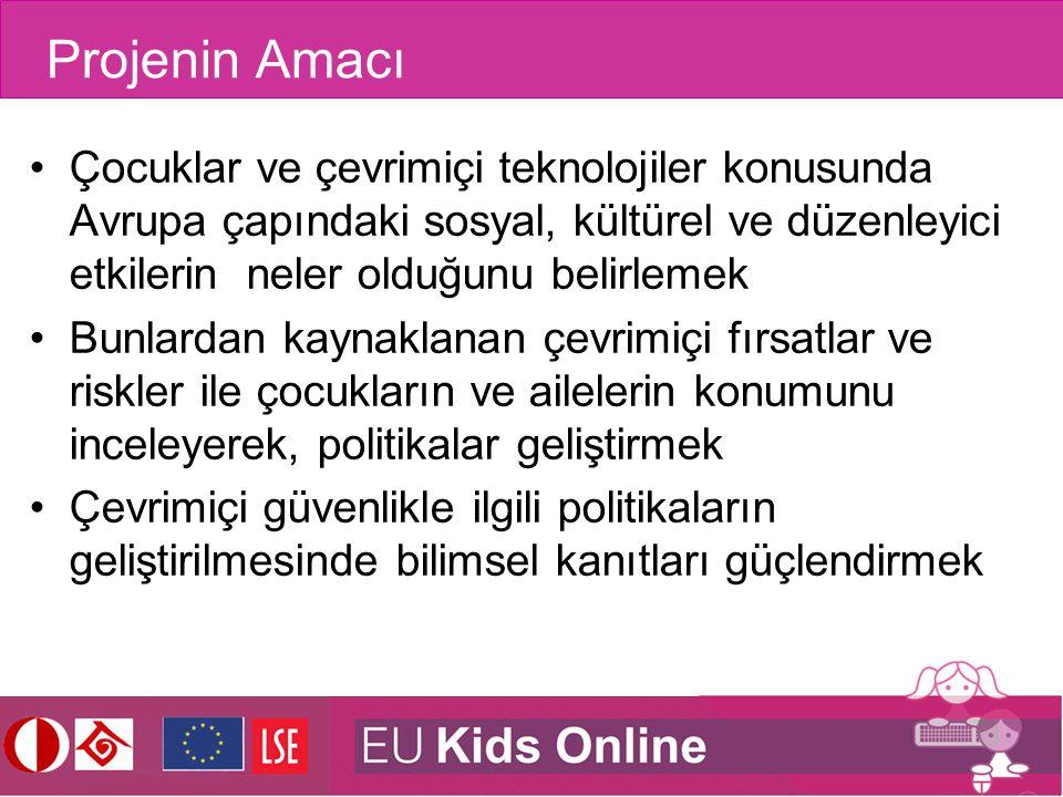 Projenin Amacı Çocuklar ve çevrimiçi teknolojiler konusunda Avrupa çapındaki sosyal, kültürel ve düzenleyici etkilerin neler olduğunu belirlemek.