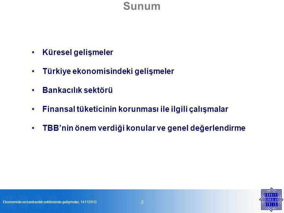 Sunum 2 Küresel gelişmeler Türkiye ekonomisindeki gelişmeler
