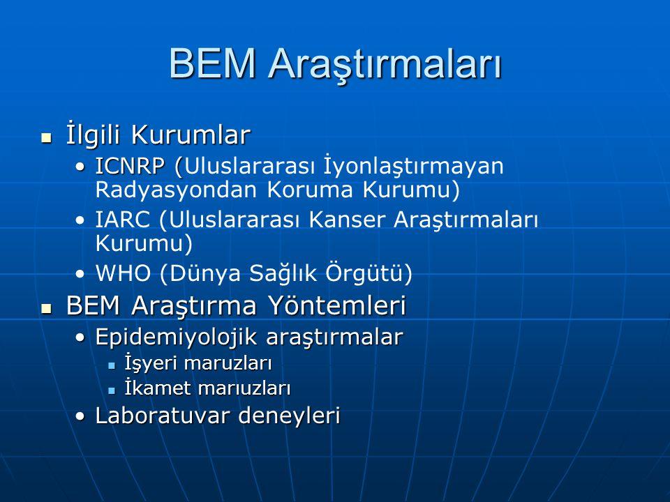 BEM Araştırmaları İlgili Kurumlar BEM Araştırma Yöntemleri