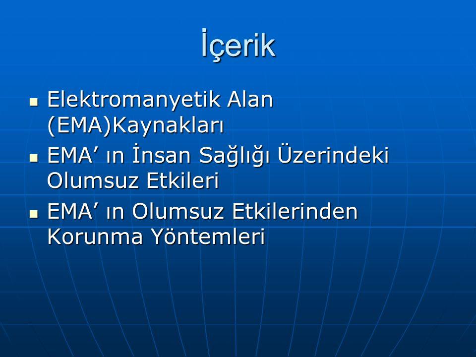 İçerik Elektromanyetik Alan (EMA)Kaynakları