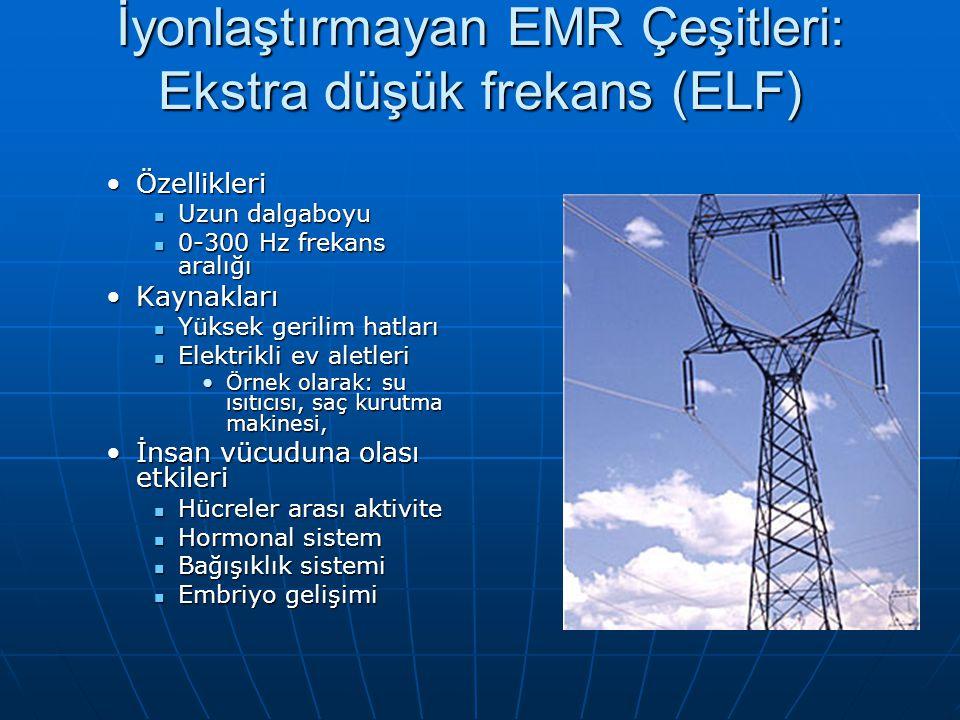 İyonlaştırmayan EMR Çeşitleri: Ekstra düşük frekans (ELF)