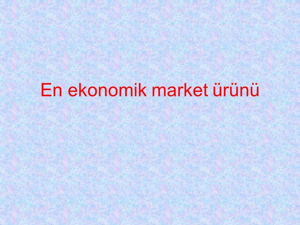 En ekonomik market ürünü