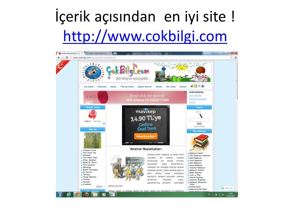 İçerik açısından en iyi site ! http://www.cokbilgi.com