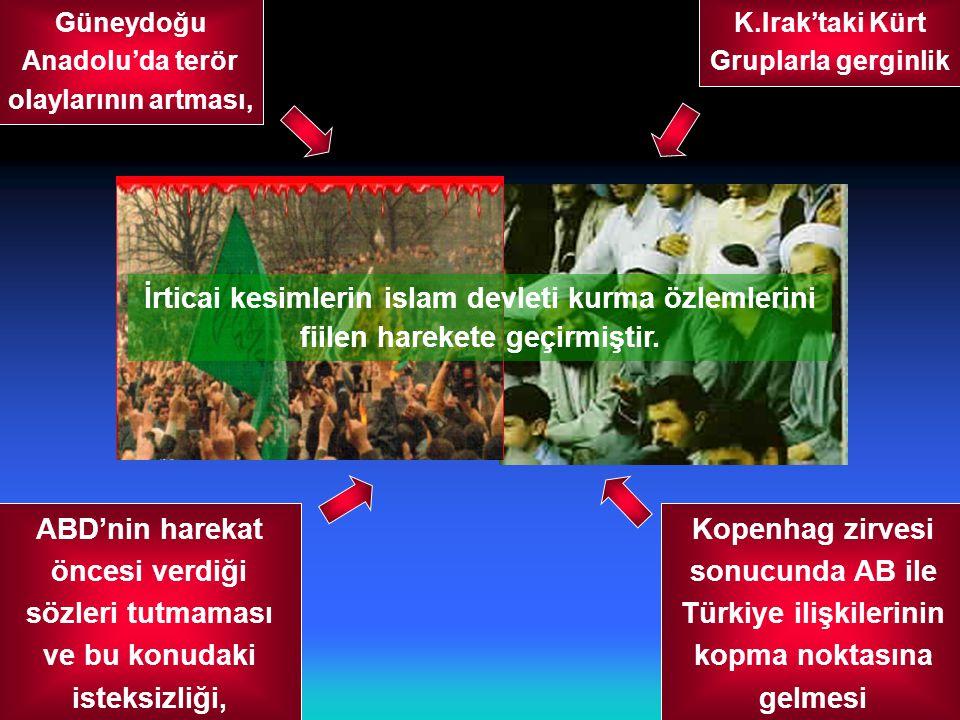 Güneydoğu Anadolu'da terör olaylarının artması,