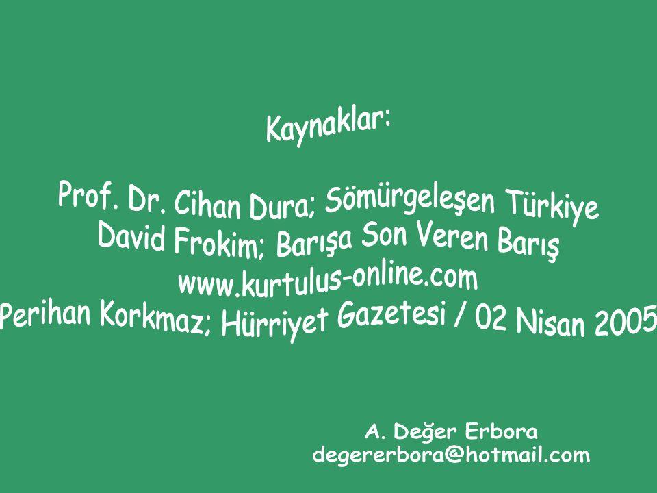 Prof. Dr. Cihan Dura; Sömürgeleşen Türkiye
